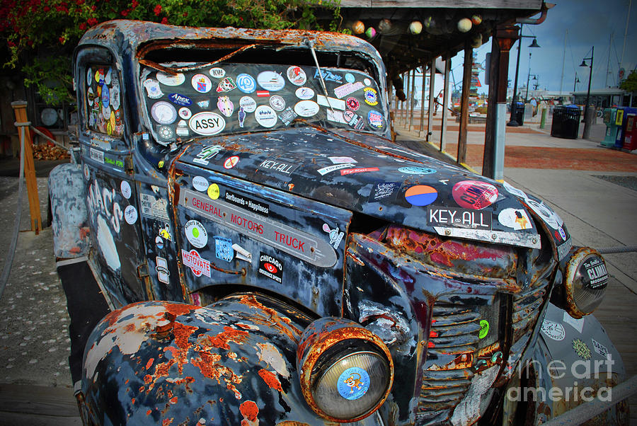 Truck Photograph - Travel Key West Style by Jost Houk