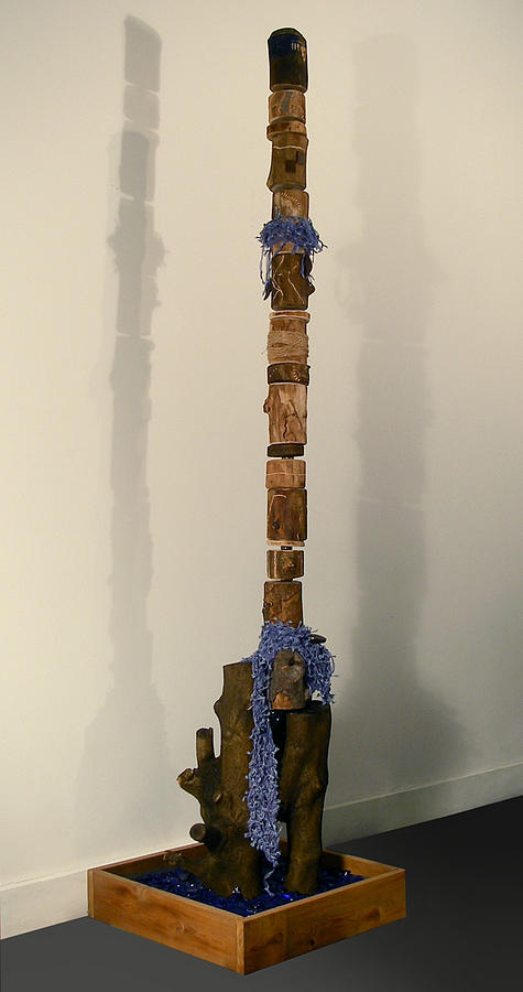 Wood Mixed Media - Travel Log by VanOs -