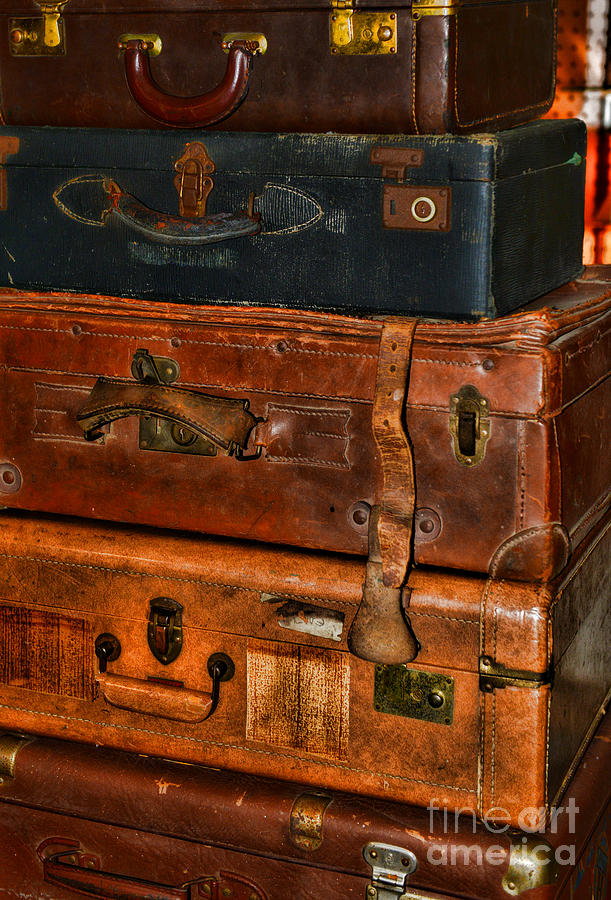 Luggage Photograph - Travel - Old Bags by Paul Ward