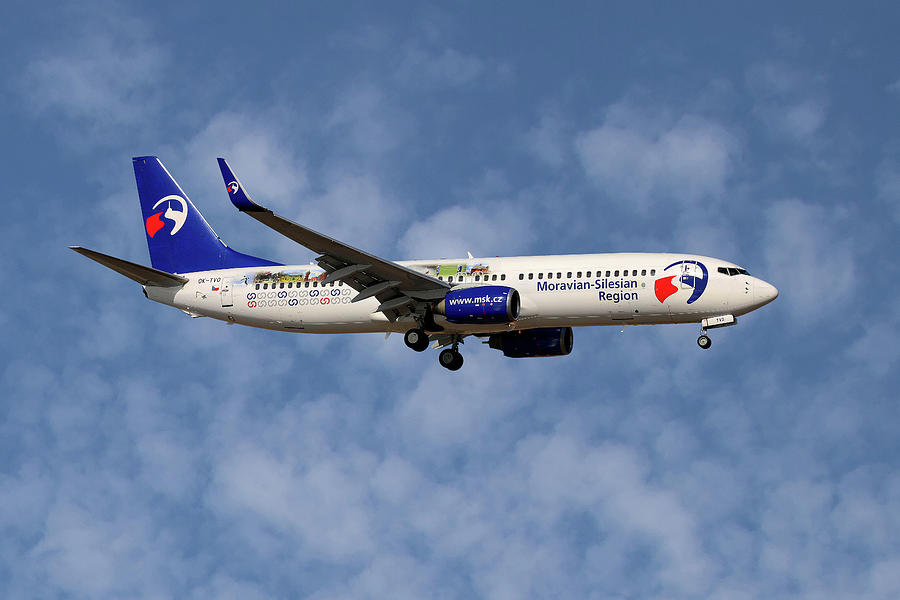 Boeing Photograph - Travel Service Boeing 737-8cx by Smart Aviation