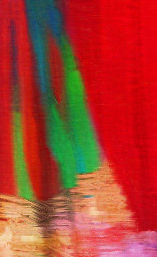 Abstract Photograph - Travel Shopping Colorful Scarves Abstract Series India Rajasthan 1a by Sue Jacobi