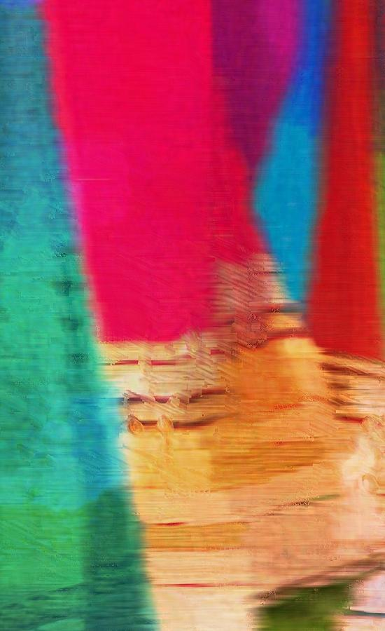 Travel Shopping Colorful Scaves Abstract Series India Rajasthan 1c by Sue Jacobi