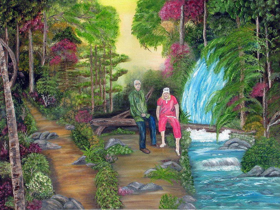 Landscape Painting - Travel Treasures by Mikki Alhart