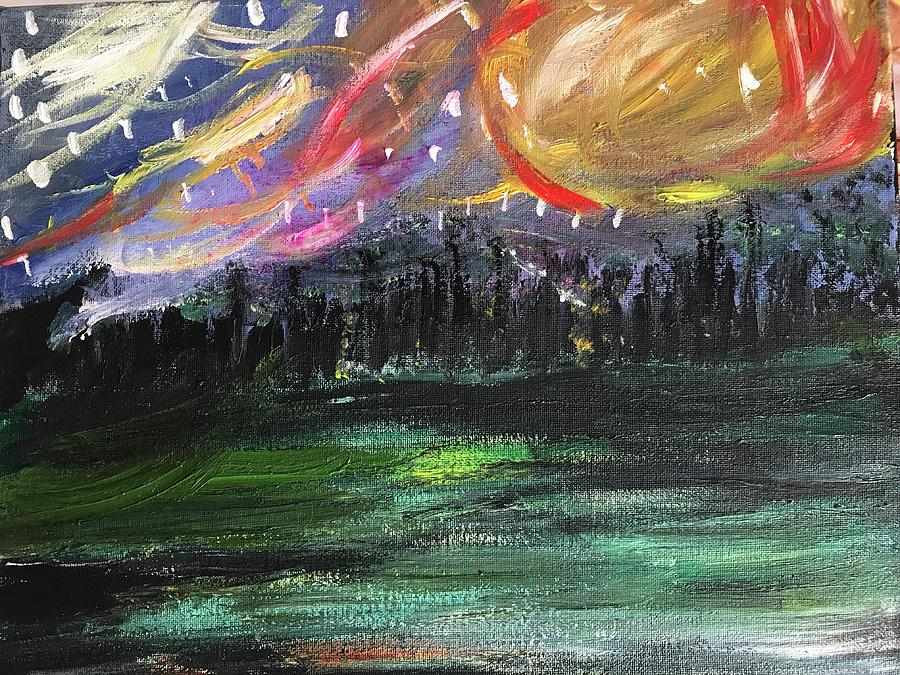 Landscape Painting - Travelers  by Katy Flach