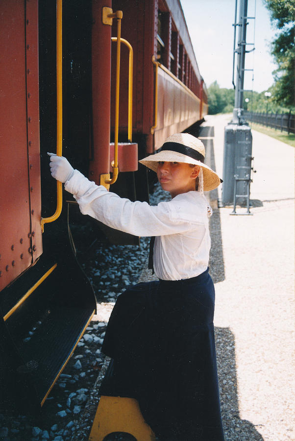 Snood Photograph - Traveling By Train by Cindy New