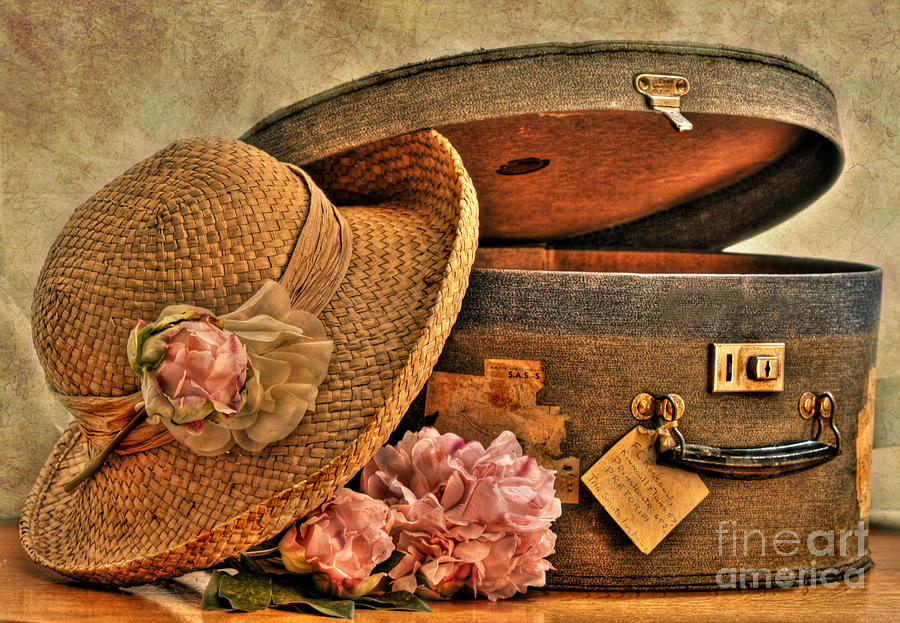 Old Photograph - Traveling Lady by Sandra Rossouw