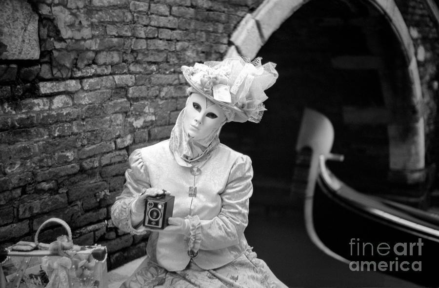 Gondola Photograph - Traveling Mask by Riccardo Mottola