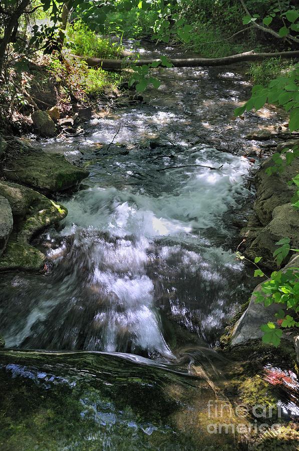 Landscape Photograph - Travertine Creek by Ron Cline