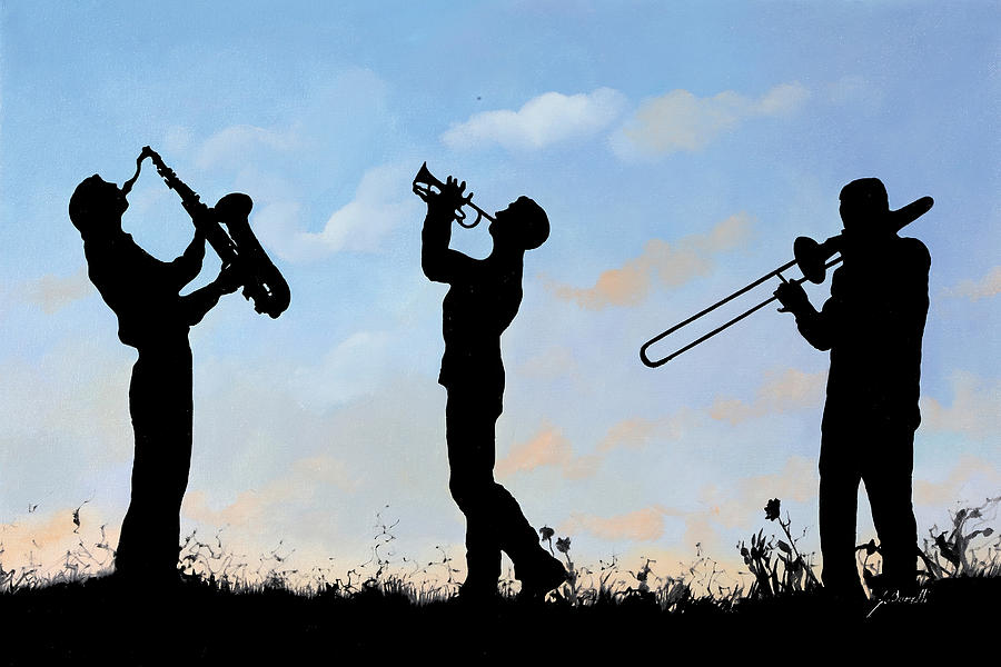 Jazz Painting - tre by Guido Borelli