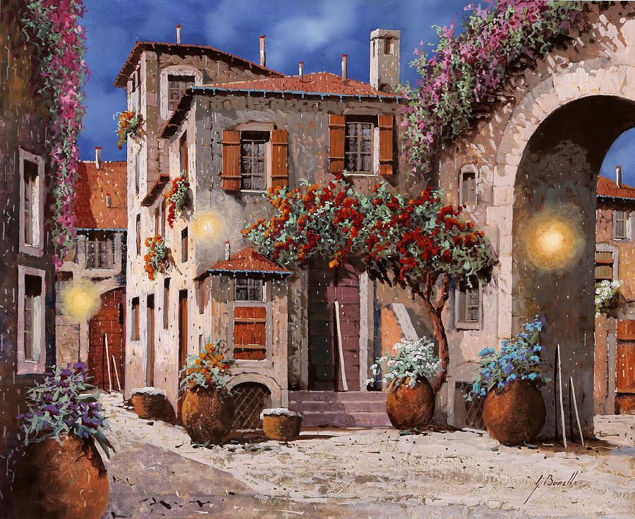 Tre Luci Al Crepuscolo Painting