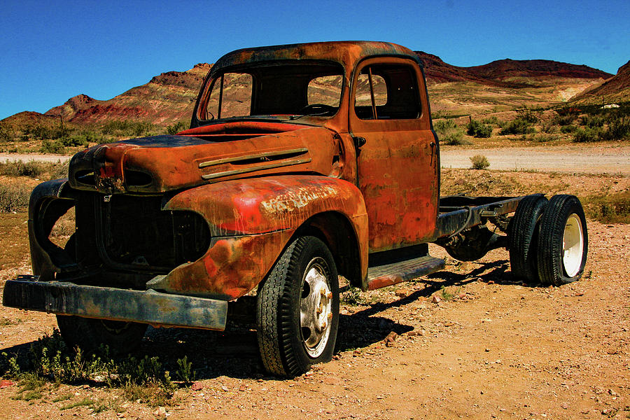 Old Truck Photograph - Tread No More by Robin Lyn