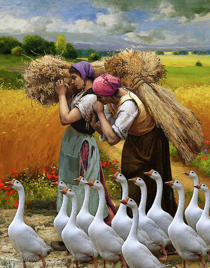 Multicultural Digital Art - Treading Back Home by Magic Realist