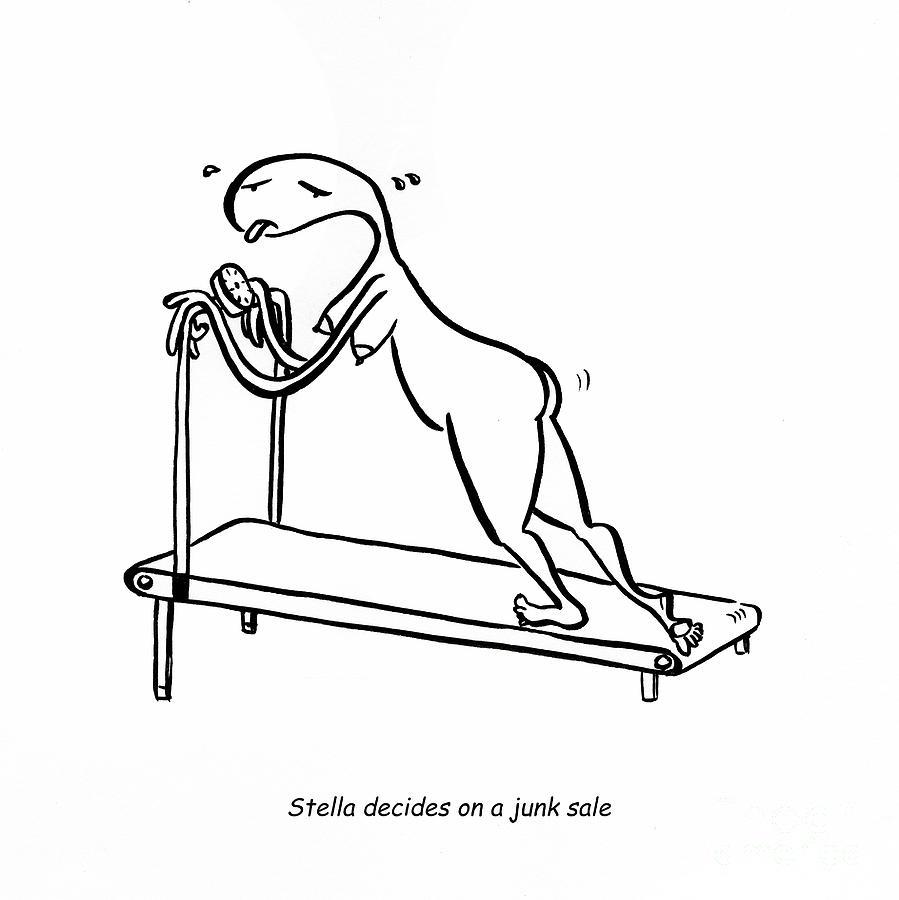 Stella Digital Art - Treadmill by Leanne Wilkes