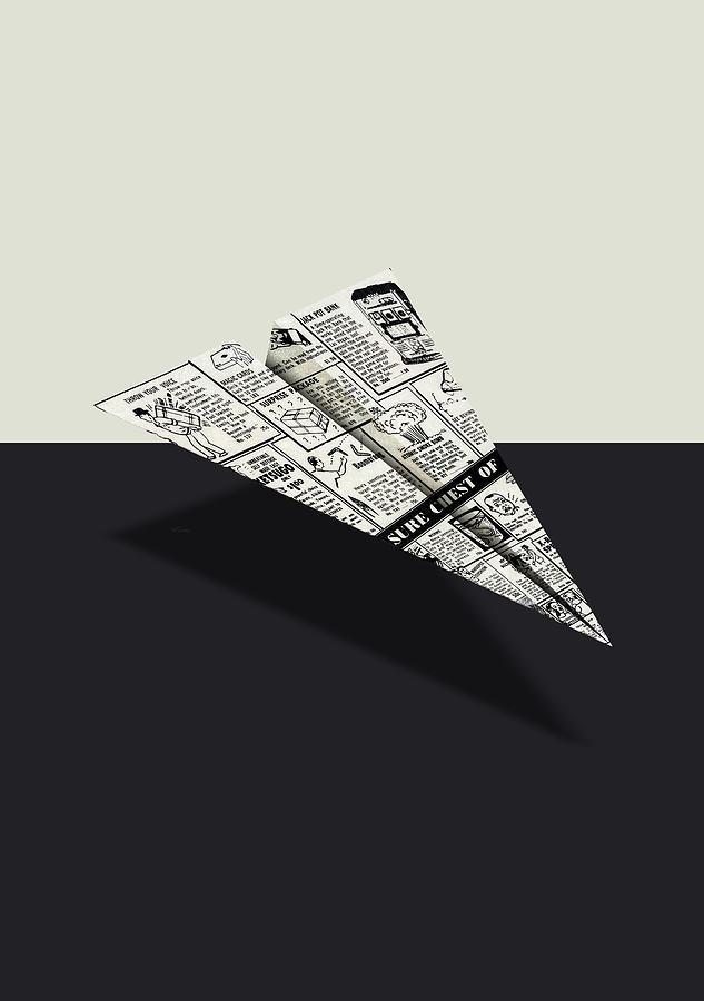 f5555ecde5a5 Advertising Digital Art - Treasure Chest Of Fun Comic Book Ad Paper Airplane  by YoPedro