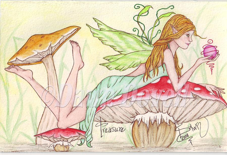 Fairy Painting - Treasure by Dawn Dovell