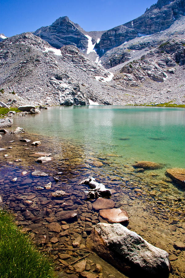 Sierra Mountains Photograph - Treasure Lake 3 Rocky Shoreline by Chris Brannen