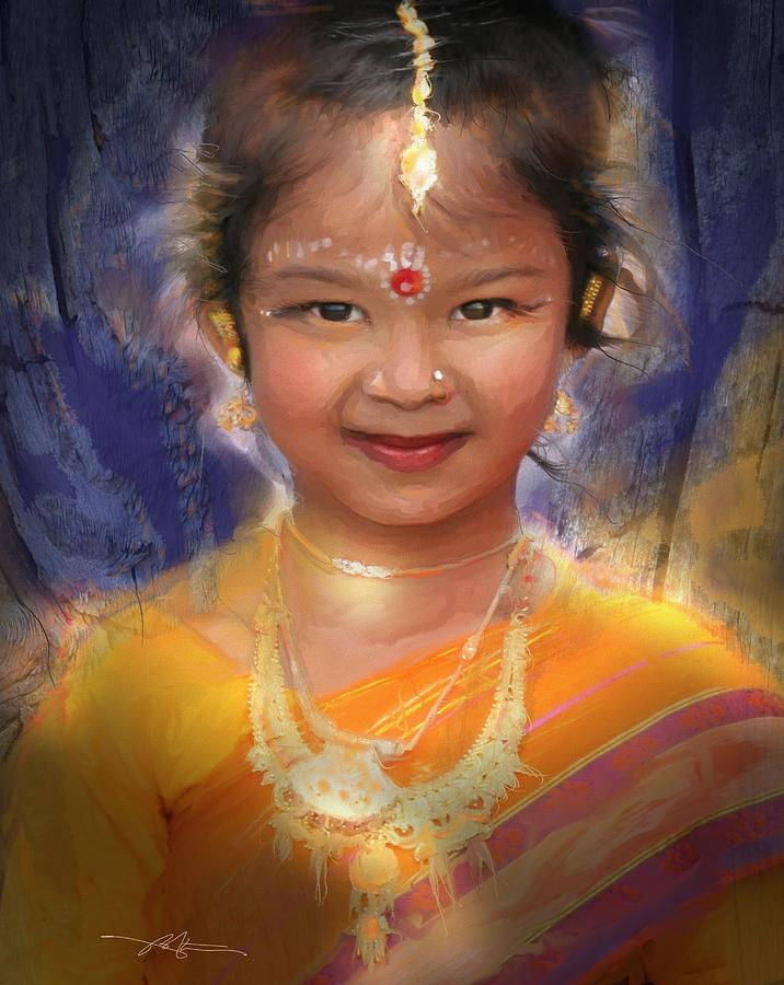 Child Painting - Treasure Of South Asia by Bob Salo