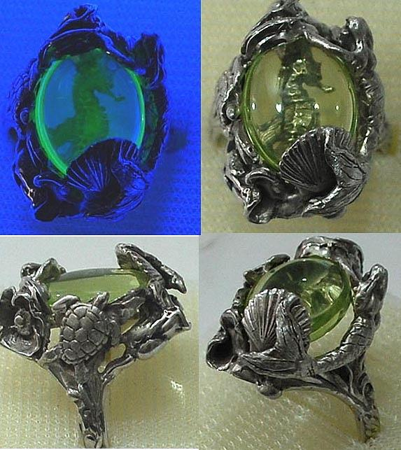 Palladium Silver Jewelry - Treasure Of The Seahorse Ring by Michelle  Robison