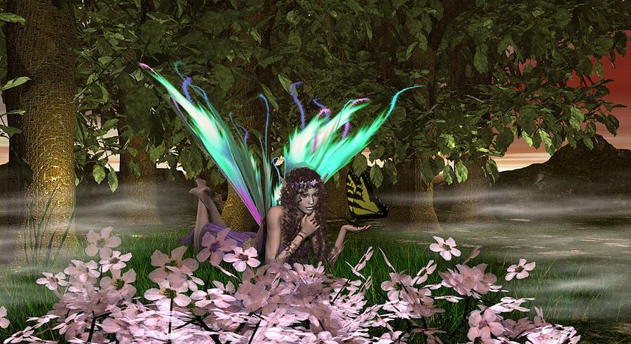 Fairy Mixed Media - Treasured Moments by Eva Thomas