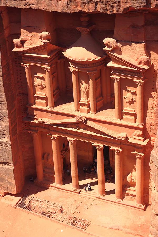 Petra Photograph - Treasury Of Petra by Paul Cowan
