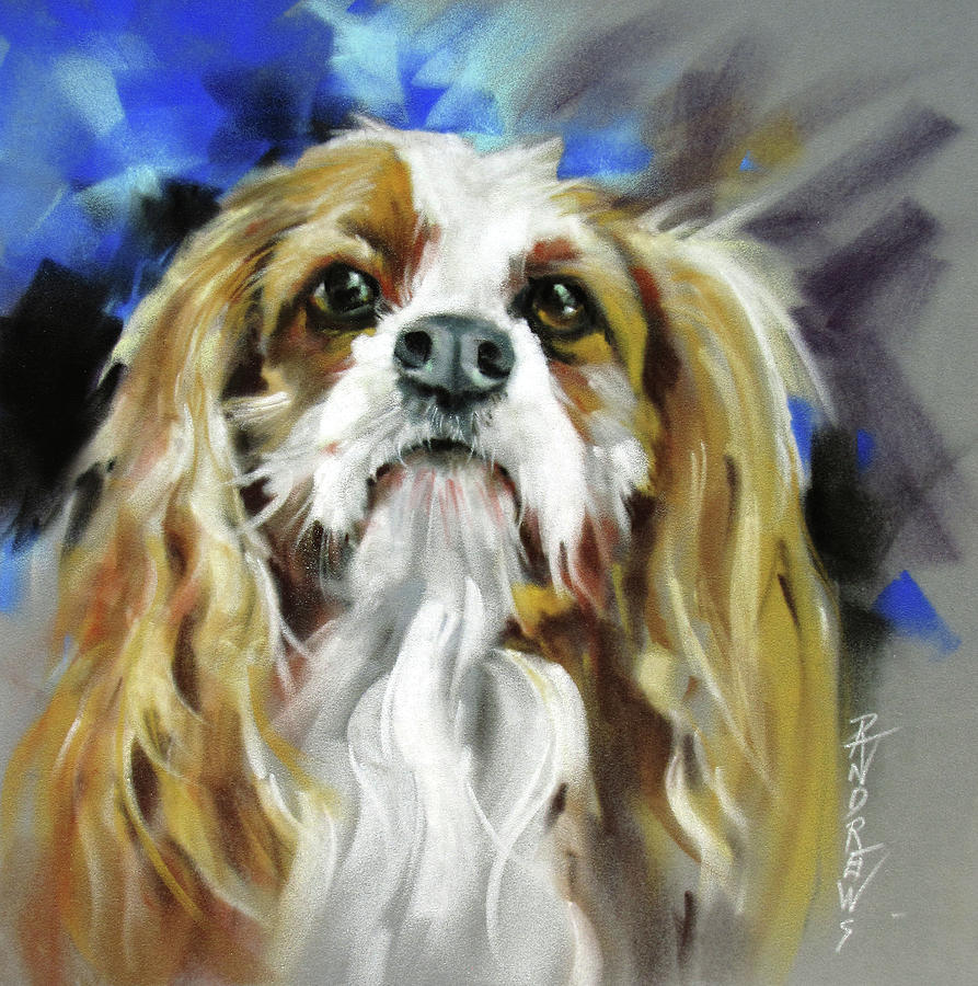 Dog Painting - Treat Expectations by Rae Andrews