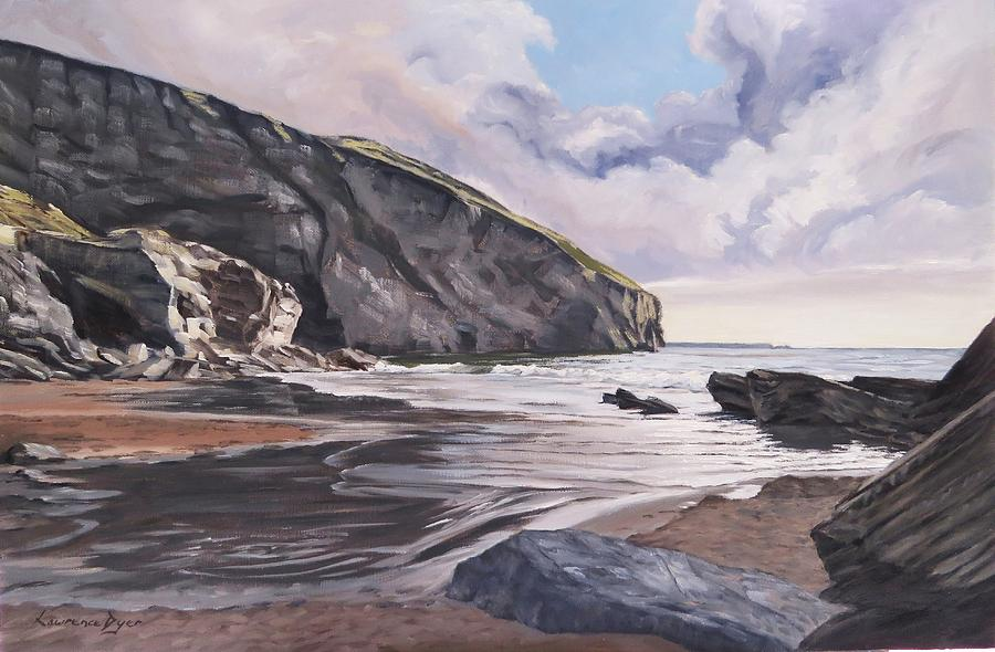 Seascape Painting - Trebarwith Strand by Lawrence Dyer