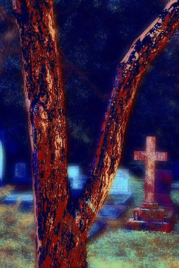 Tree Photograph - Tree And Cross by Jill Tennison