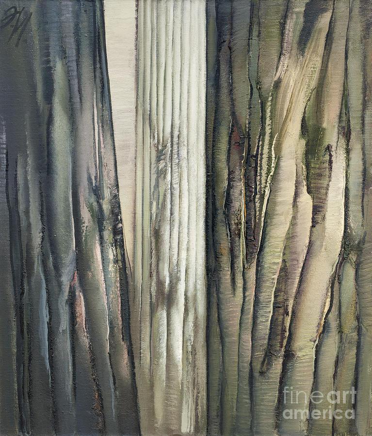Tree Bark Texture Painting by John Maletski