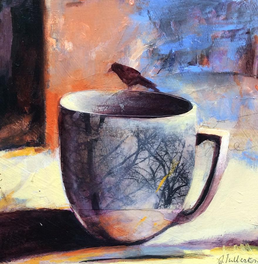 Tree Cup Mixed Media by Joan Fullerton