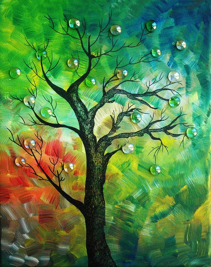 Tree Fantasy Painting by Ramneek Narang