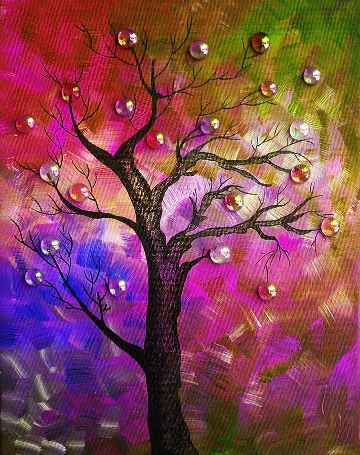 Tree Fantasy2 Painting by Ramneek Narang