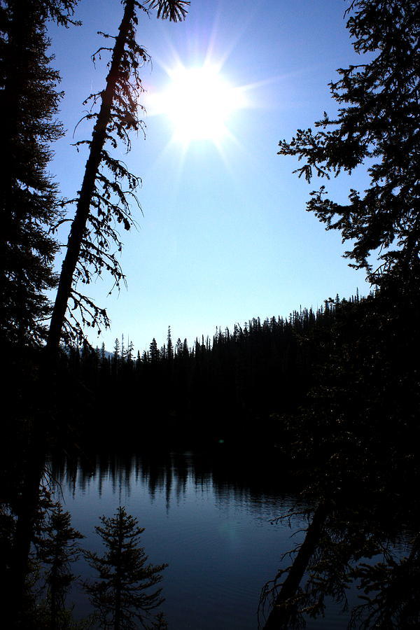 Nature Photograph - Tree-framed Lake by Joseph Peterson
