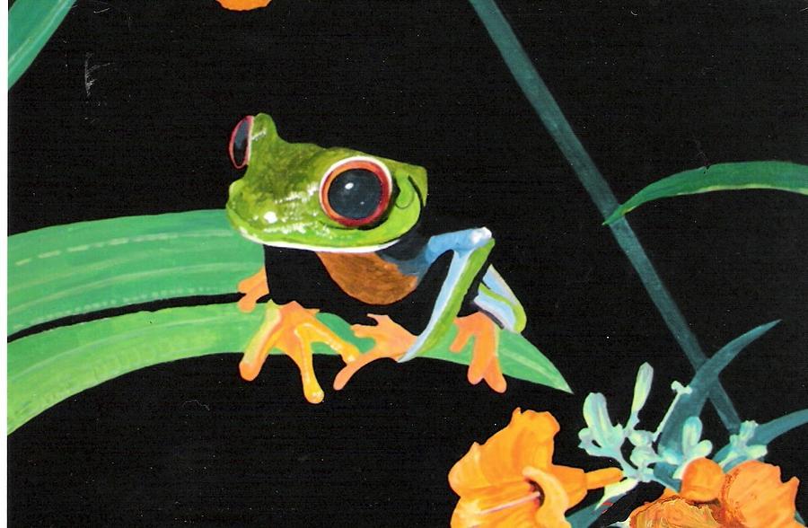 Tree Frog Painting by David Ellis