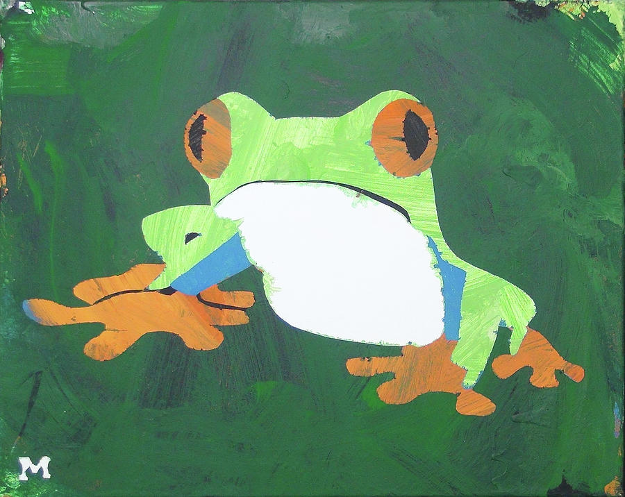 Frog Painting - Tree Frog by Candace Shrope