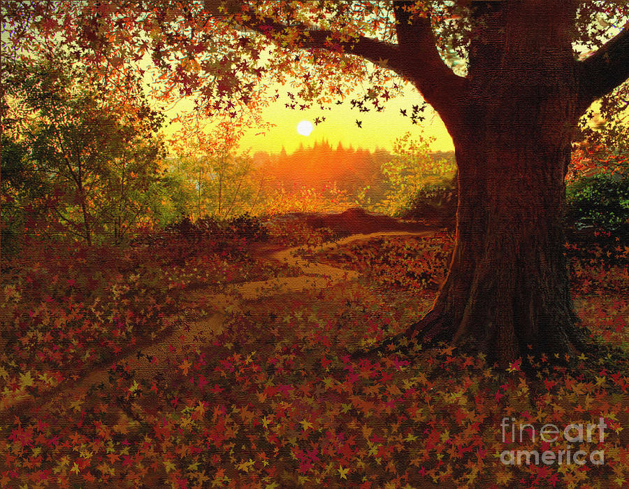 Tree Painting - Tree Leaves by Robert Foster