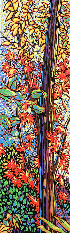 Red Painting - Tree Long by Nadi Spencer
