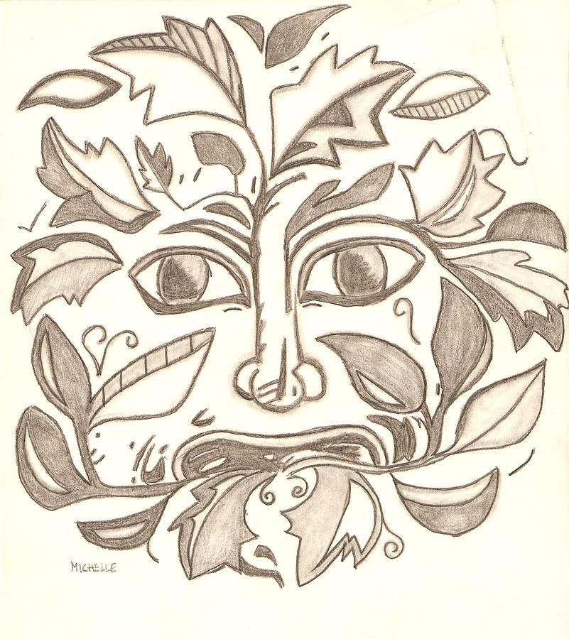 Tree Man Drawing - Tree Man by Michelle Kinzler