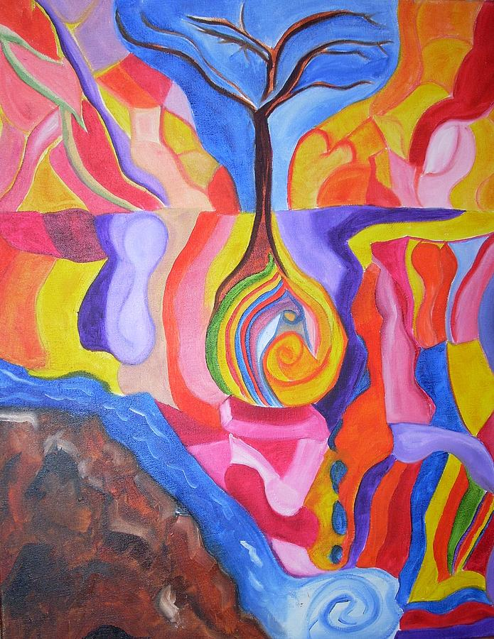 Tree Of Color Painting by Joseph  Arico