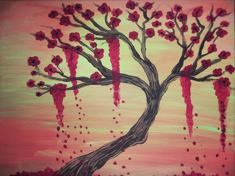 Tree Painting - Tree Of Desire 2 by Vale Anoai