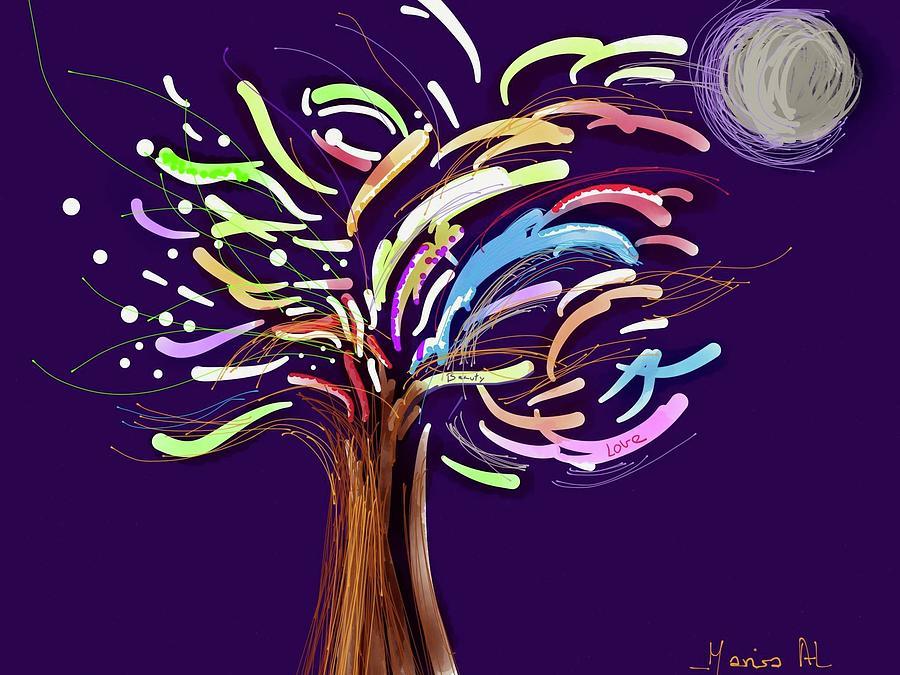 tree of Joy Painting by Marisa Al