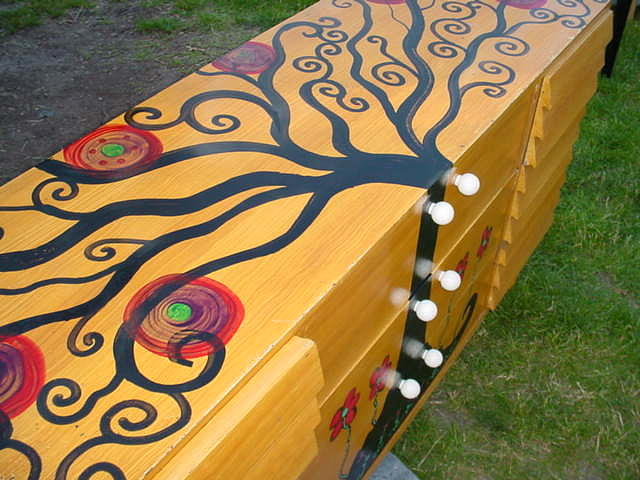 Acrylics Painting - Tree Of Life 9 Drawer Dresser by Rick Cheadle