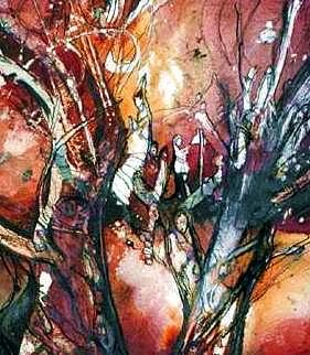 Tree Of Life Painting - Tree Of Life by Anne-D Mejaki - Art About You productions
