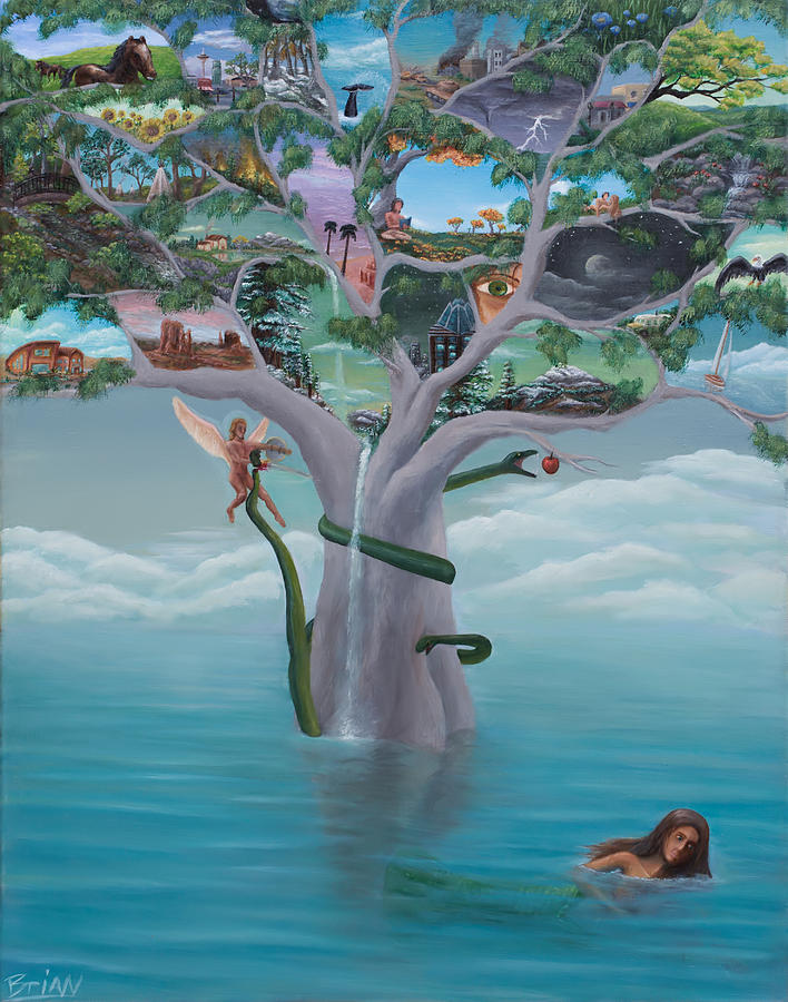 Surreal Painting - Tree Of Life by Brian Nunes