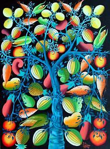 Tree Of Life Painting - Tree Of Life by Frantz Petion by Frantz Petion