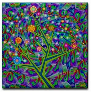 Artwork Ceramic Art - Tree Of Life Ceramic Art Tile by Jean Petree