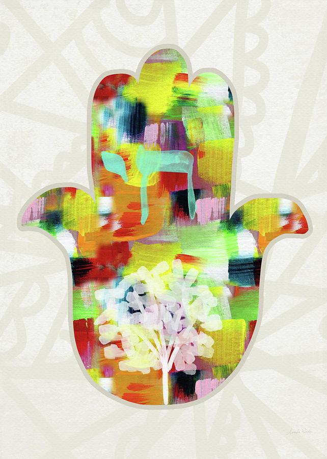Hamsa Painting - Tree Of Life Hamsa- Art By Linda Woods by Linda Woods