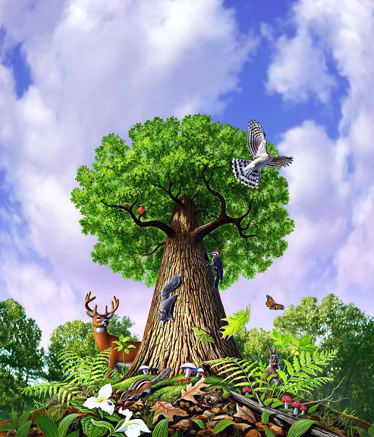 Tree Painting - Tree Of Life by Jerry LoFaro