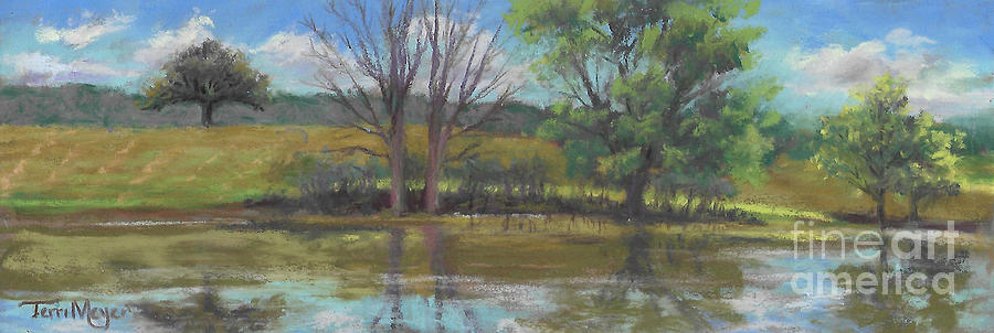 Tree Of Life Landscape Painting by Terri  Meyer