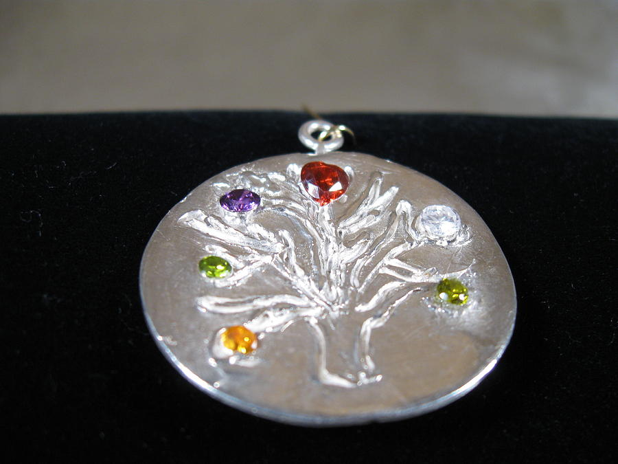 Gemstones Jewelry - Tree Of Life by Louise Musto-Choate
