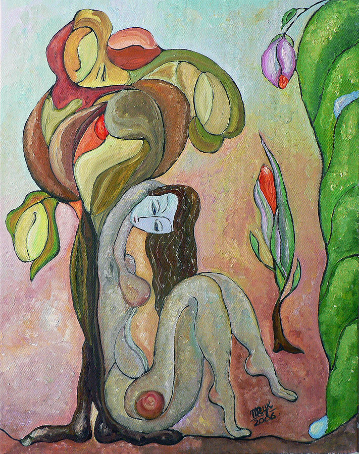 Figurative Art Paintings Painting - Tree Of Life by Mila Ryk